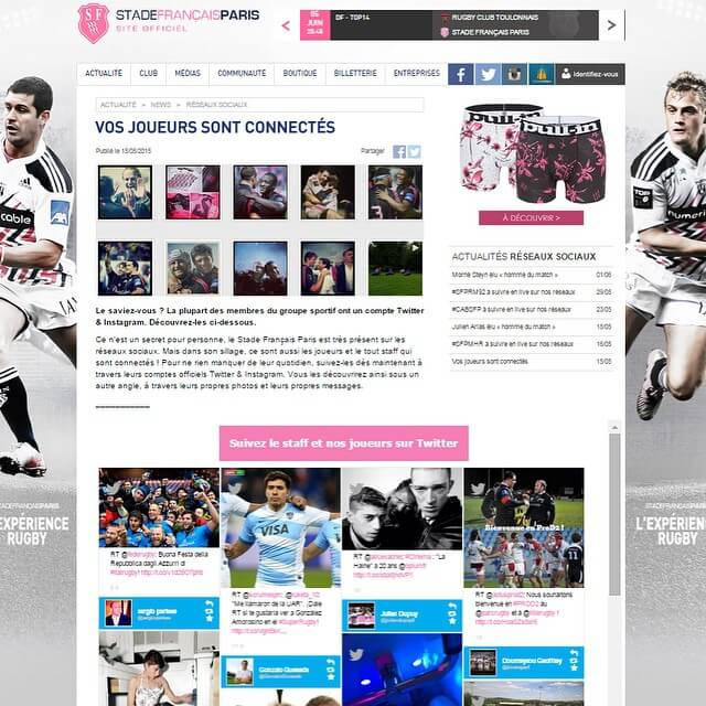Rugby social wall