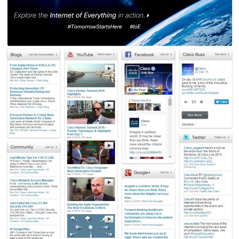 Social Cisco Social Media