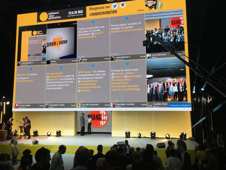 Display your social wall on screens & web at your event