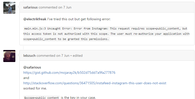 Instagram API Problems in 2016 : Help for API Update -