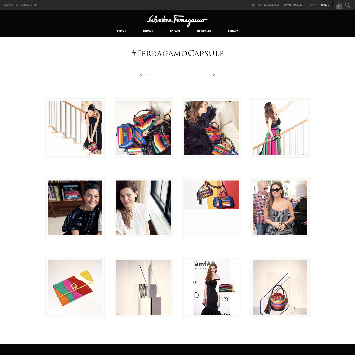 Social wall for product launch od Salavatore Ferragamo.
