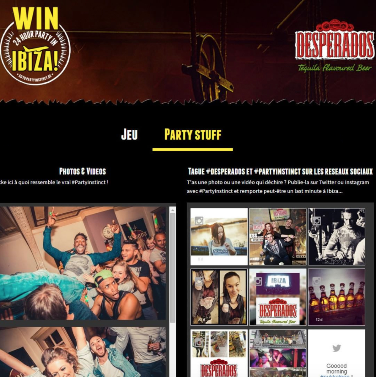 Dialogfeed has made a social wall to highlight the hashtag campaigns of the beer brand Desperados