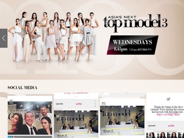 Dialogfeed has made a hashtag campaign for the social wall of Asia's Next Top Model