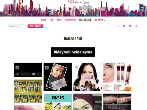 Dialogfeed has made a hashtag campaign for the social wall of Maybelline