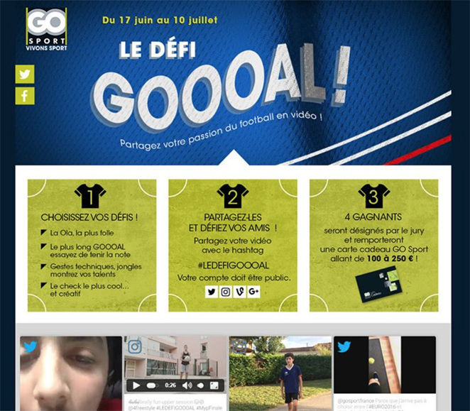 Dialogfeed create a hashtag campaign on Instagram for Go Sport