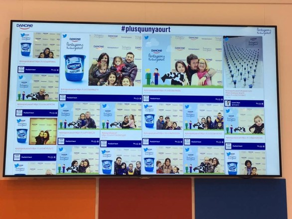 The use of this entertaining social wall highly contributed to the image and the digital presence of the brand.
