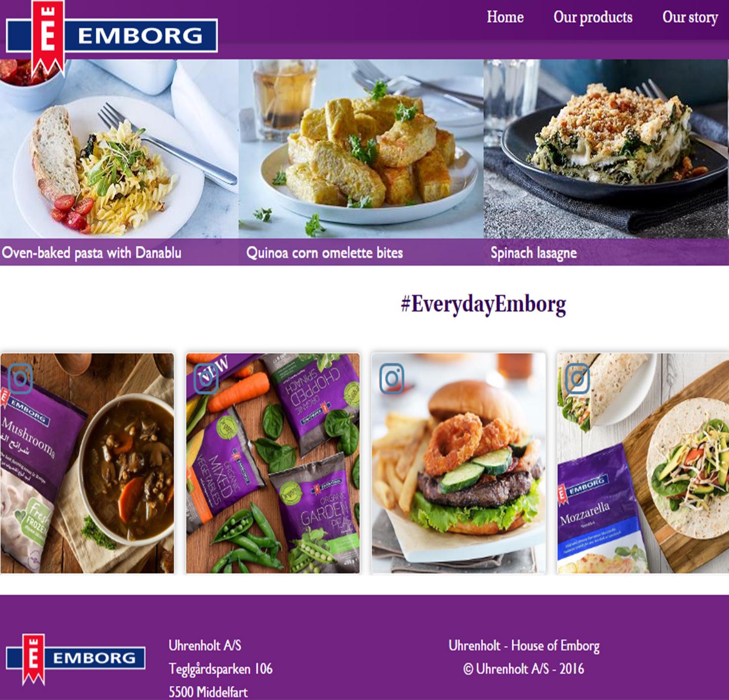 L'alliance entre social wall et consommation a favorisé la promotionn de la marque et l'esthétique du site internet d'Emborg.