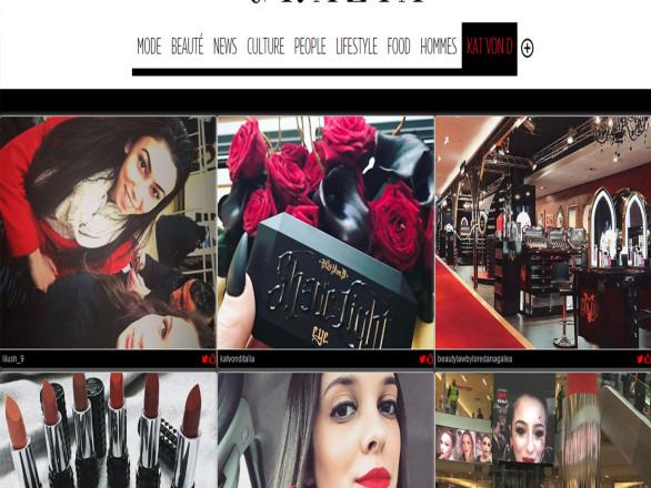 Sephora et Kat Von D ont pu faire de la promotion de produit grâce à ce social wall créé sur-mesure.