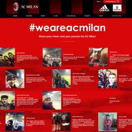 Le mix entre réseaux sociaux et sport a été bénéfique pour AC Milan pour promouvoir leurs comptes sociaux et leur site internet.