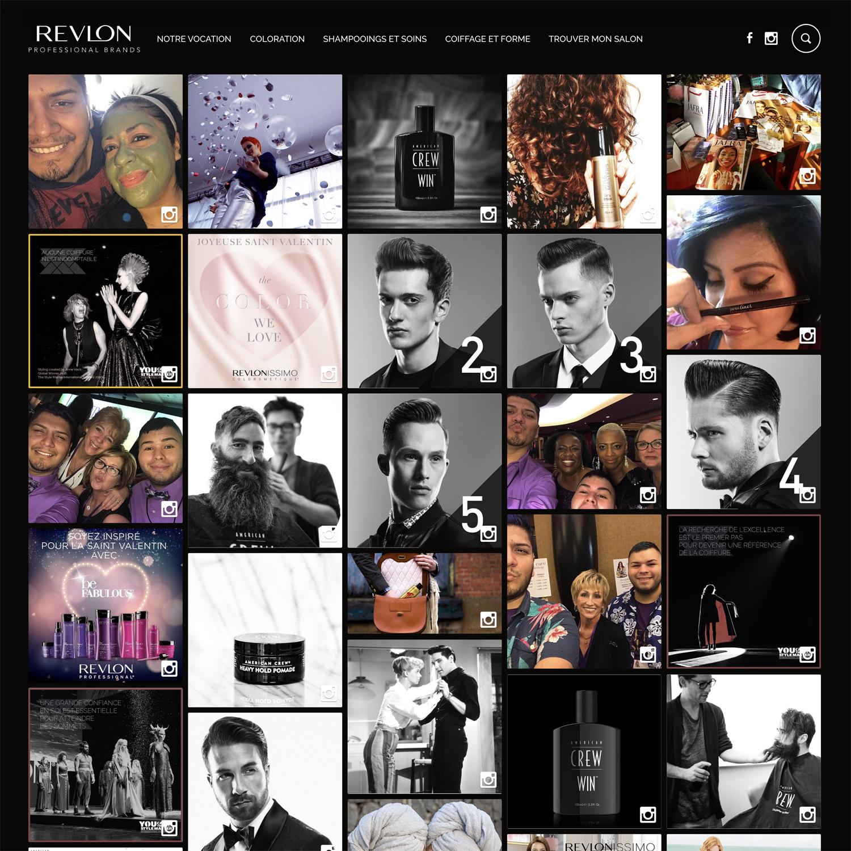 Ce social wall beauté a enrichit le site web de Revlon afin de générer plus d'engagement de la part des consommateurs.