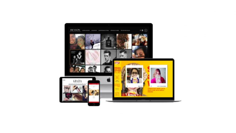 Social Wall - Aggregate display of brand and content generated by trusted users UGC