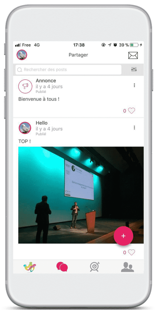 event interaction share content app